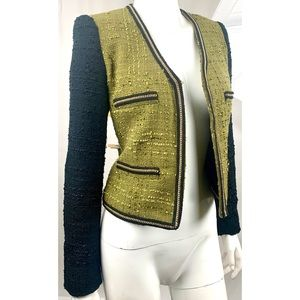 Mango Green Black Suit Blazer XS